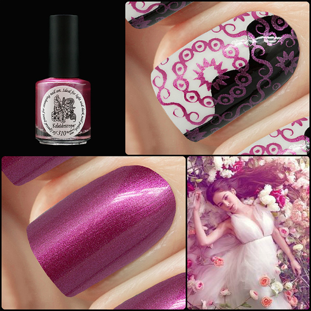 EL Corazon Kaleidoscope Special paint for stamping nail art Stf-310 Raspberry wine