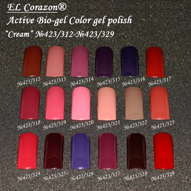 Active Bio-gel Color gel polish Cream 423/312-№423/329