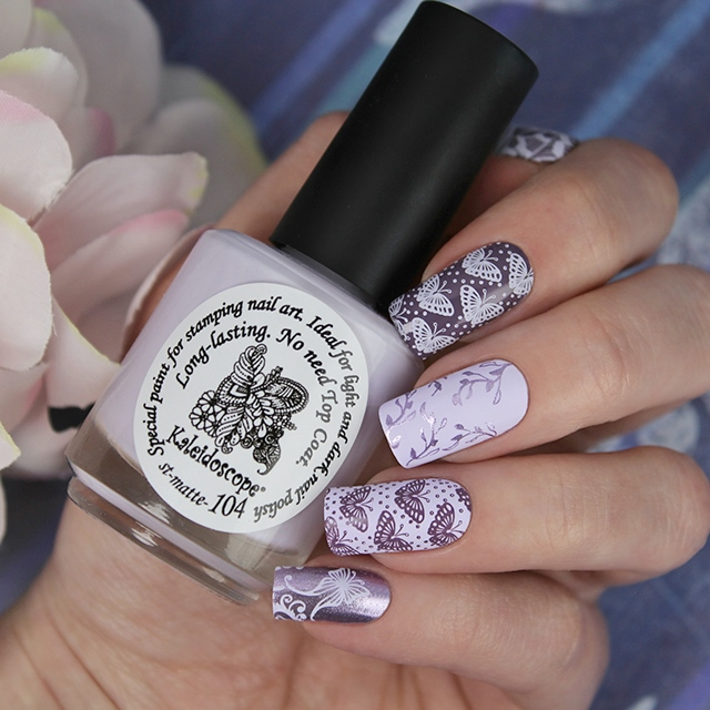 EL Corazon Kaleidoscope Special paint for stamping nail art st-matte-104