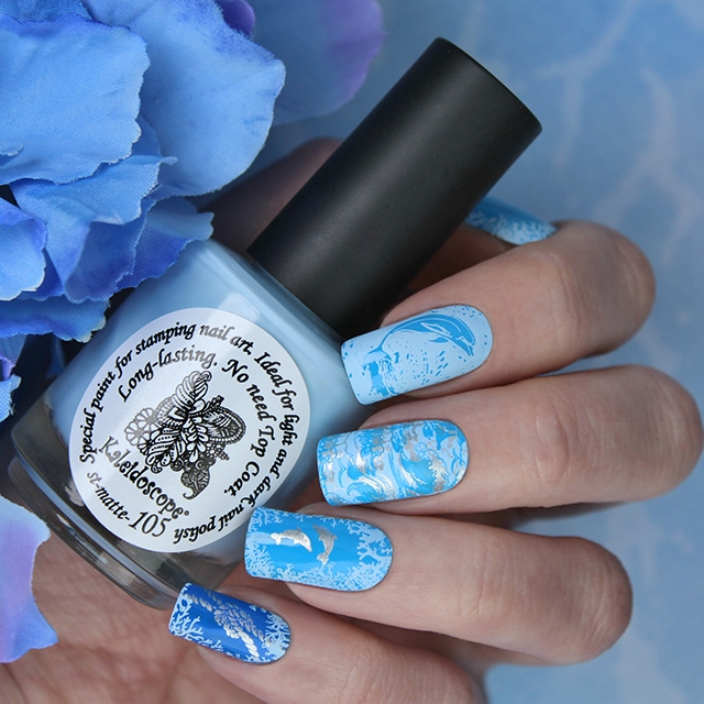EL Corazon Kaleidoscope Special paint for stamping nail art st-matte-105