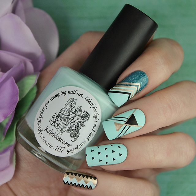 EL Corazon Kaleidoscope Special paint for stamping nail art st-matte-107